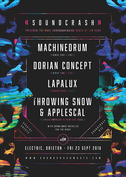 Machinedrum + Dorian Concept at Trapeze on Friday 23rd September 2016 Flyer