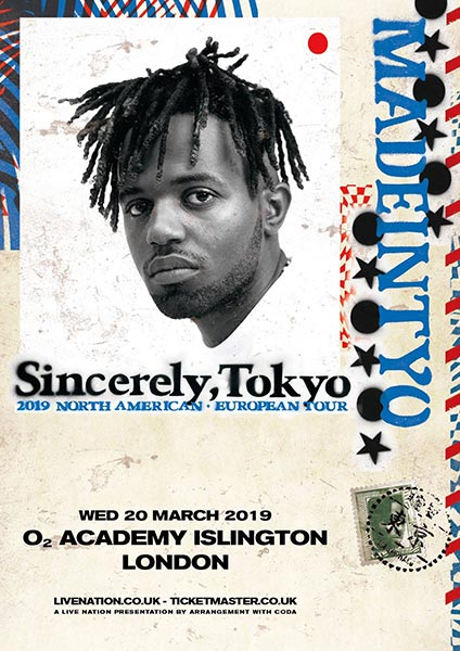 Madeintyo at Islington Academy on Wednesday 20th March 2019 Flyer