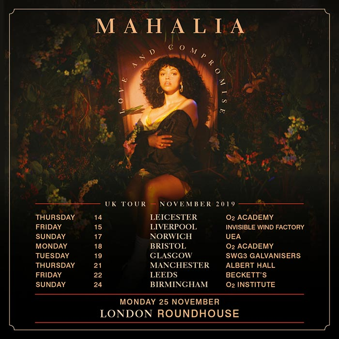 Mahalia at The Roundhouse on Mon 25th November 2019 Flyer