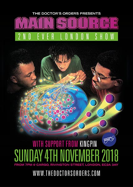 Main Source at Cargo on Sunday 4th November 2018 Flyer