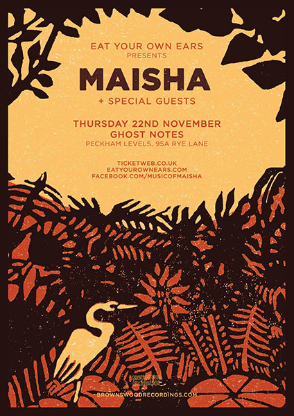 Maisha at Ghost Notes on Thu 22nd November 2018 Flyer