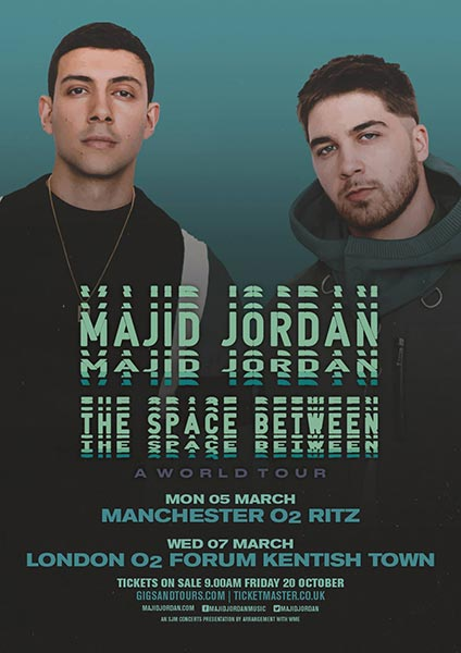 Majid Jordan at Finsbury Park on Wednesday 7th March 2018 Flyer