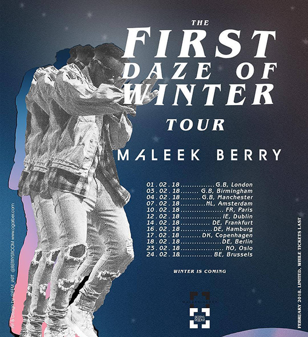 Maleek Berry at KOKO on Thu 1st February 2018 Flyer