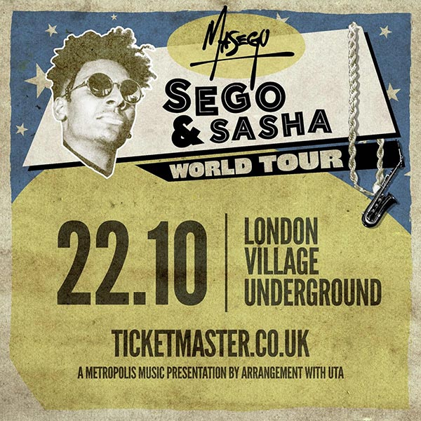 Masego at Finsbury Park on Sunday 22nd October 2017 Flyer