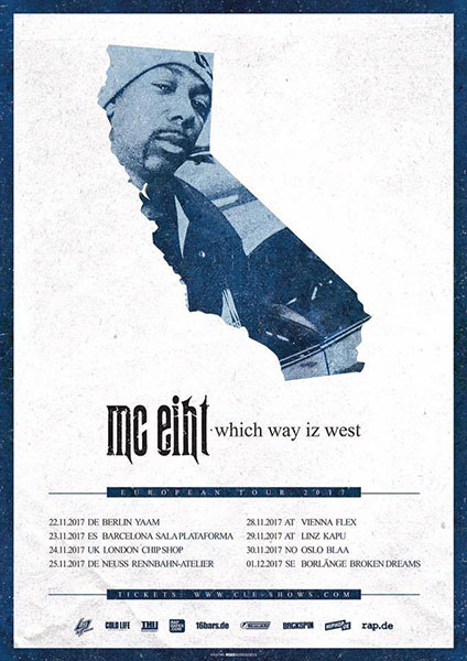 MC Eiht at Chip Shop BXTN on Fri 24th November 2017 Flyer