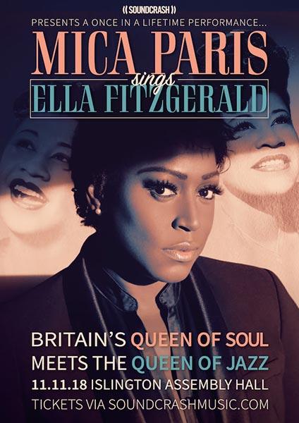 Mica Paris at Islington Academy on Sun 11th November 2018 Flyer