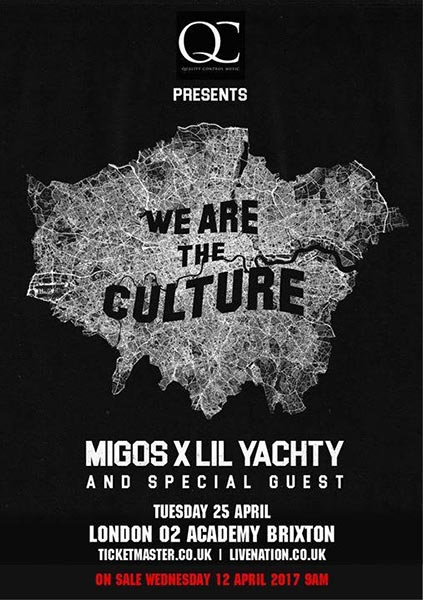 Migos & Lil Yachty at Brixton Academy on Wed 26th April 2017 Flyer