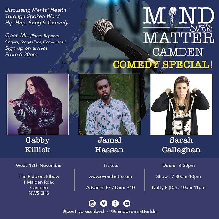 Mind Over Matter at The Fiddler