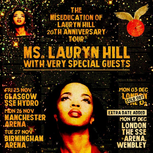 Lauryn Hill at Wembley Arena on Monday 17th December 2018 Flyer