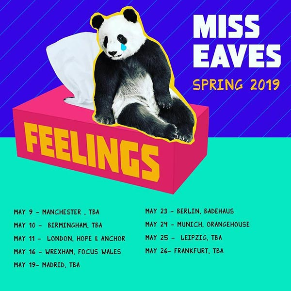 Miss Eaves at Hope & Anchor on Sat 11th May 2019 Flyer