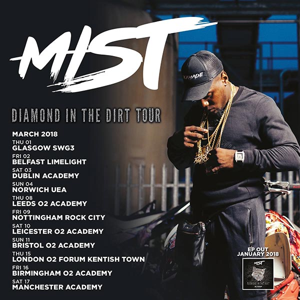 Mist at The Forum on Thursday 15th March 2018 Flyer