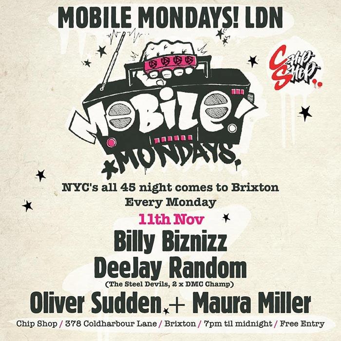 Mobile Mondays LDN at Chip Shop BXTN on Mon 11th November 2019 Flyer