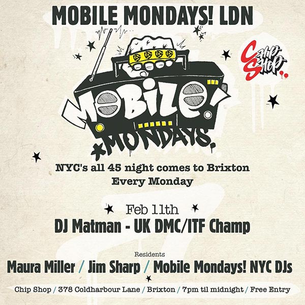 Mobile Mondays LDN at Chip Shop BXTN on Mon 11th February 2019 Flyer