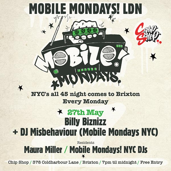 Mobile Mondays LDN at Chip Shop BXTN on Mon 27th May 2019 Flyer