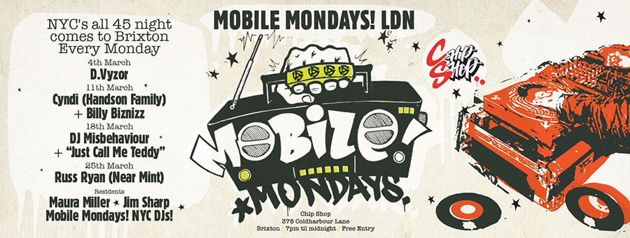Mobile Mondays LDN at Chip Shop BXTN on Mon 25th March 2019 Flyer
