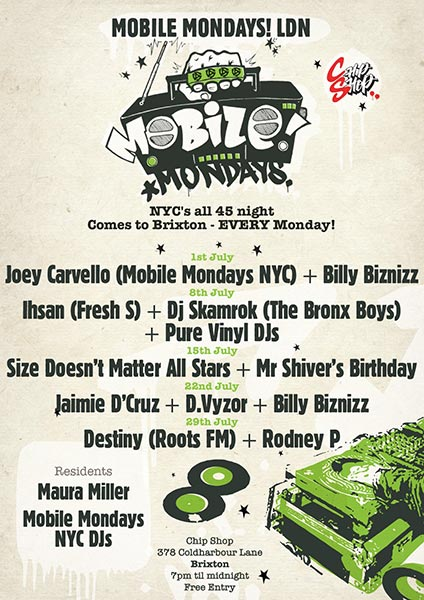 Mobile Mondays LDN at Chip Shop BXTN on Mon 29th July 2019 Flyer