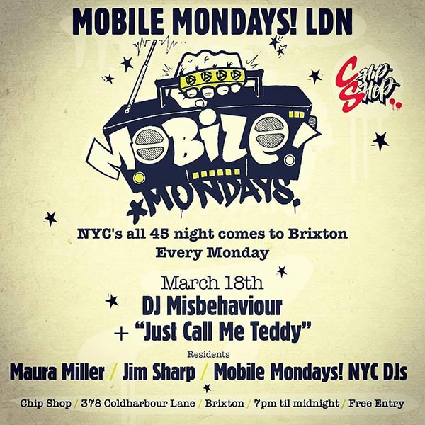 Mobile Mondays LDN at Chip Shop BXTN on Mon 18th March 2019 Flyer