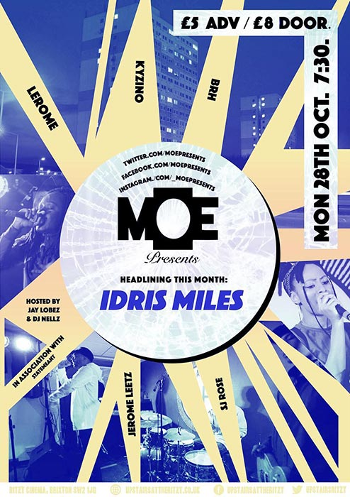 MOE Presents at The Ritzy on Mon 28th October 2019 Flyer