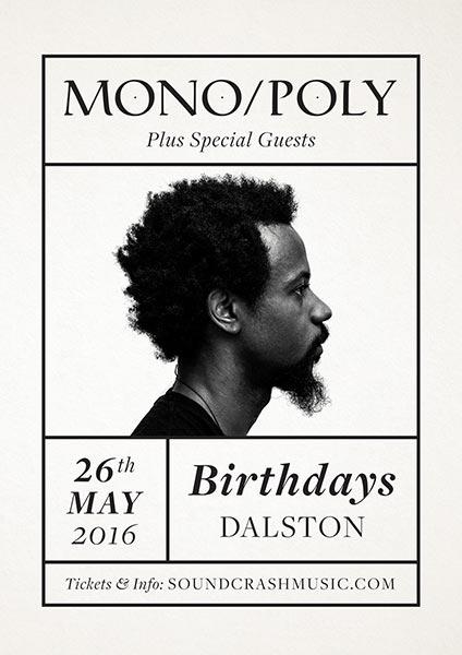 Mono/Poly at KOKO on Thursday 26th May 2016 Flyer