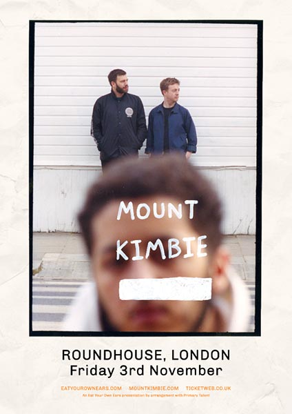 Mount Kimbie at Finsbury Park on Friday 3rd November 2017 Flyer