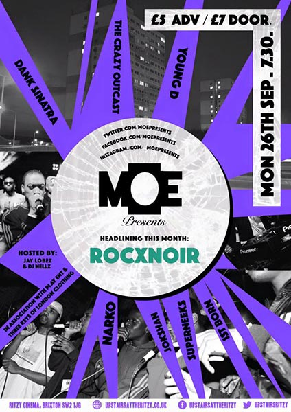 MOE Presents at The Forum on Monday 26th September 2016 Flyer