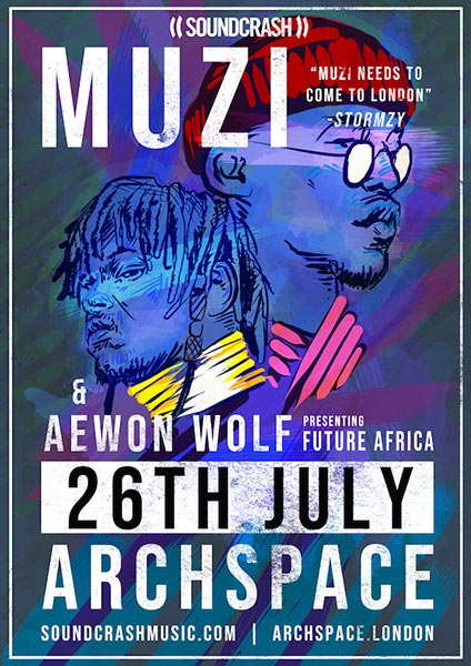 Muzi at Archspace on Thu 26th July 2018 Flyer