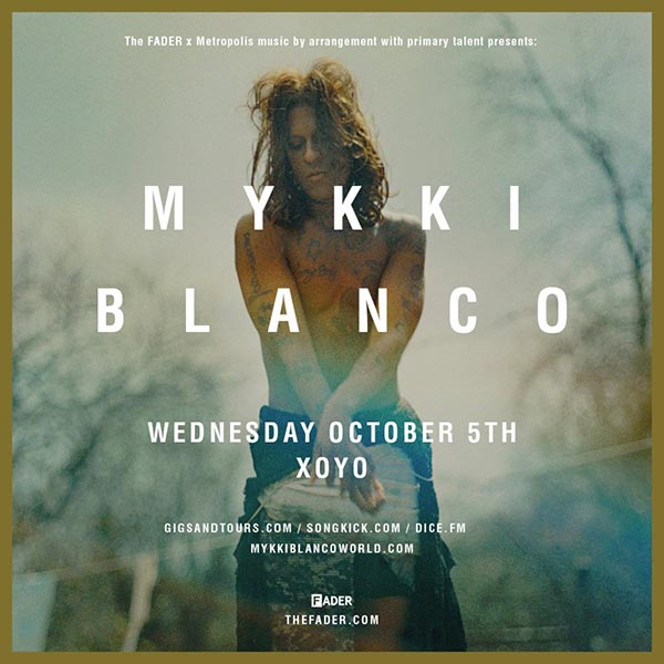 Mykki Blanco at The Forum on Wednesday 5th October 2016 Flyer