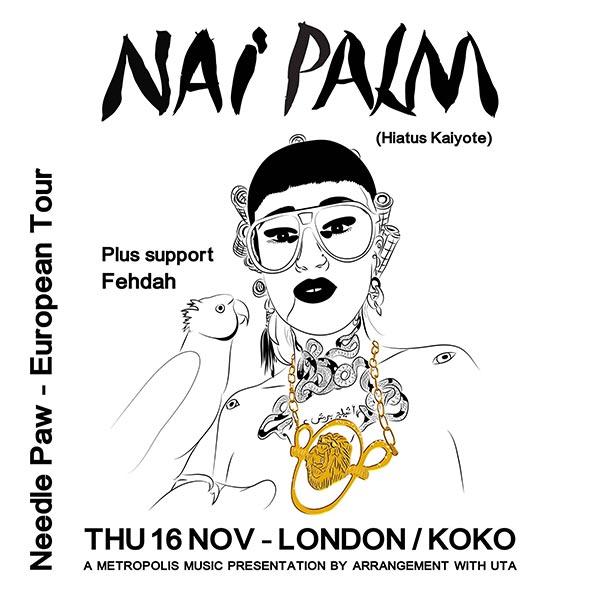 Nai Palm (Hiatus Kaiyote) at KOKO on Thu 16th November 2017 Flyer