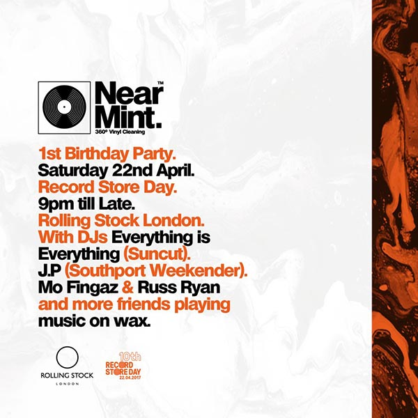 Near Mint 1st Birthday X RSD 2017 at Rolling Stock on Sat 22nd April 2017 Flyer