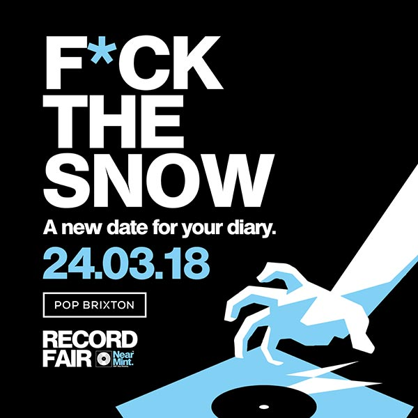 The Near Mint Record Fair at Pop Brixton on Sat 24th March 2018 Flyer