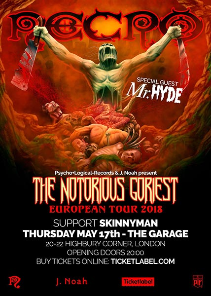 Necro + Skinnyman at The Garage on Thu 17th May 2018 Flyer