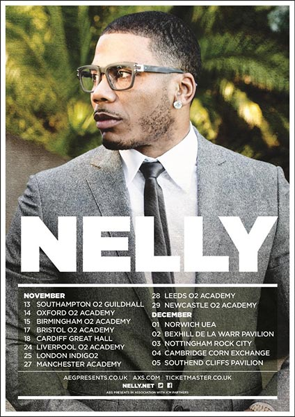 Nelly at Finsbury Park on Saturday 25th November 2017 Flyer