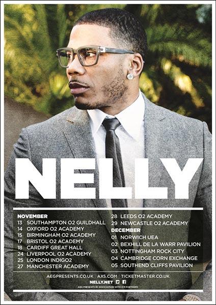 Nelly at Indigo2 on Sat 25th November 2017 Flyer