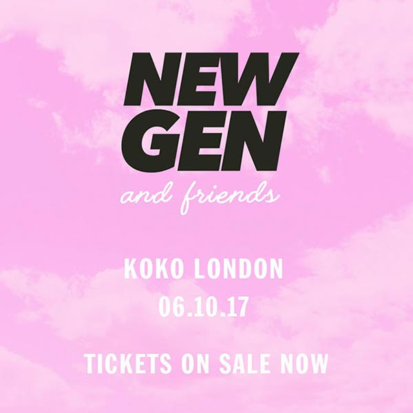 New Gen and Friends at KOKO on Fri 6th October 2017 Flyer