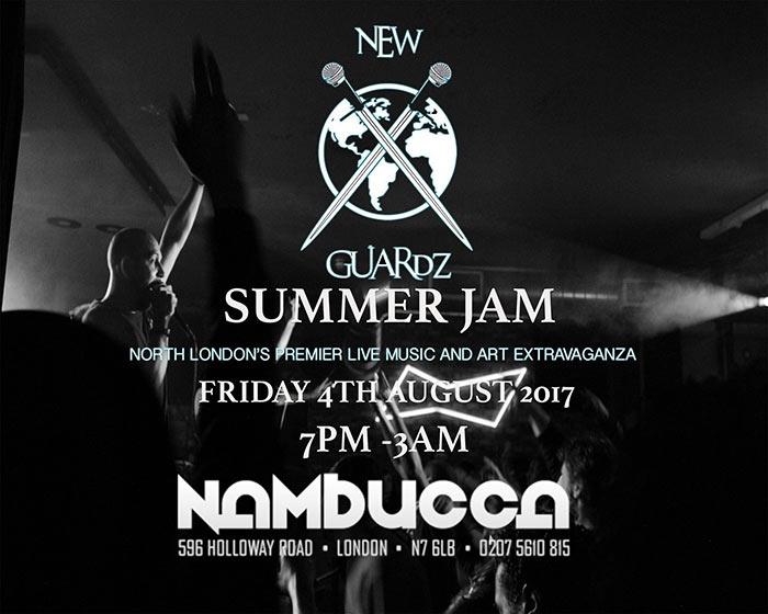 New Guardz Summer Jam at Nambucca on Fri 4th August 2017 Flyer