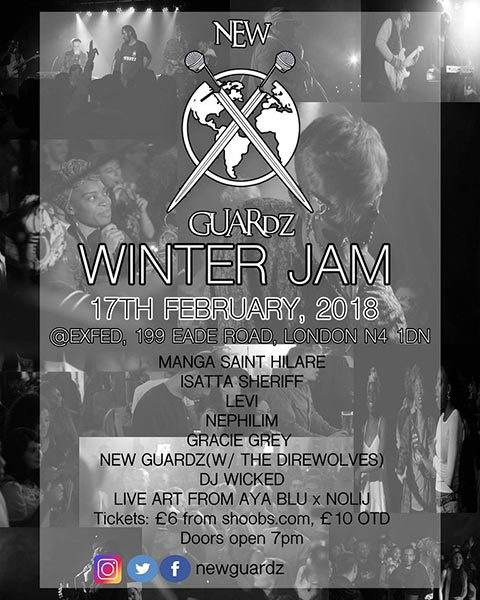 New Guardz Winter Jam at ExFed on Sat 17th February 2018 Flyer