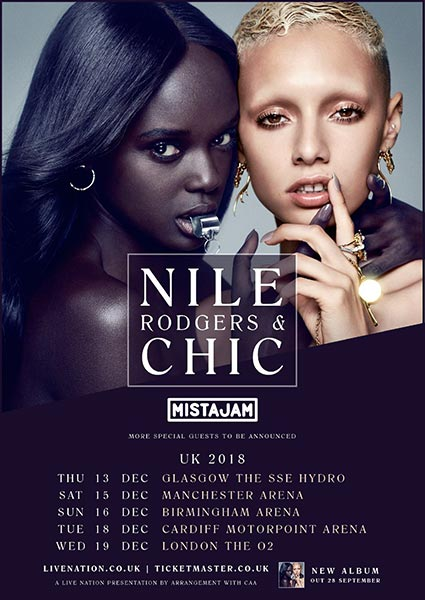 Nile Rodgers & Chic at The o2 on Wed 19th December 2018 Flyer