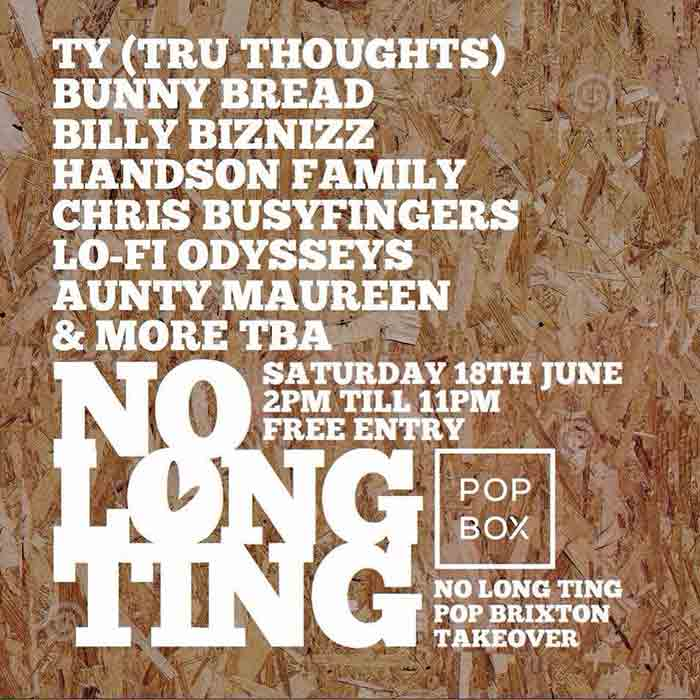No Long Ting Alldayer at KOKO on Saturday 18th June 2016 Flyer