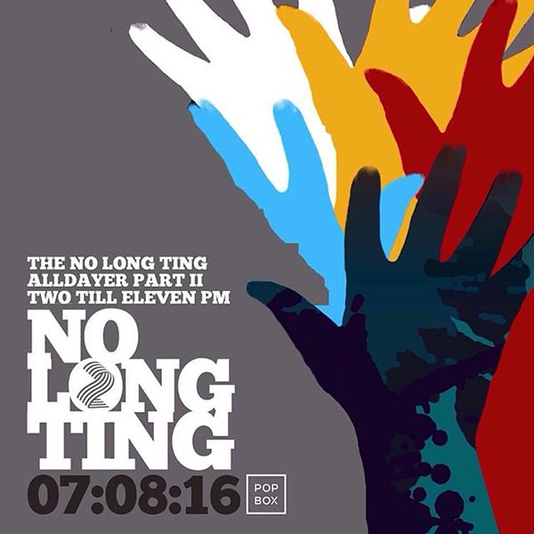 No Long Ting at Trapeze on Sunday 7th August 2016 Flyer