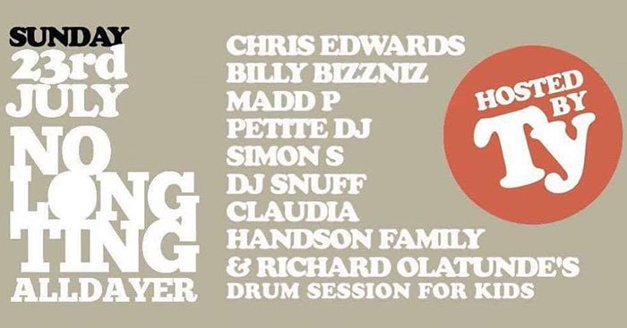 No Long Ting at Pop Brixton on Sun 23rd July 2017 Flyer