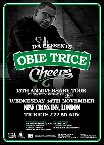 Obie Trice at New Cross Inn on Wed 14th November 2018 Flyer
