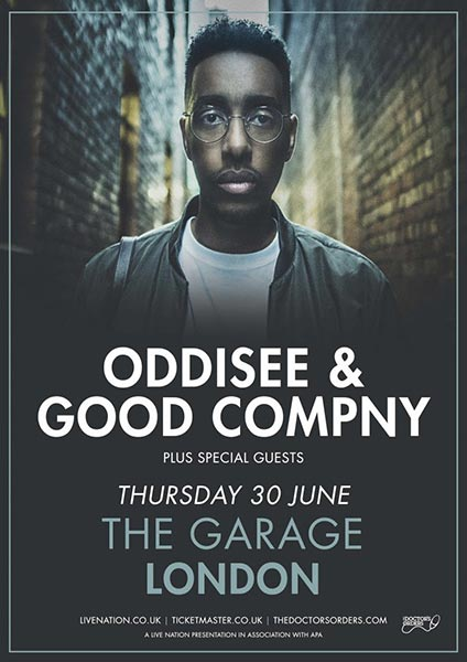 Oddisee & Good Company at Trapeze on Thursday 30th June 2016 Flyer