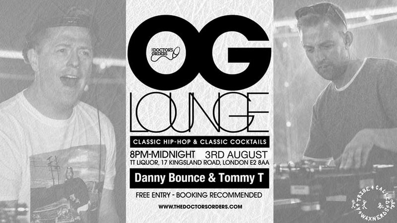 OG Lounge at TT Liquor on Sat 3rd August 2019 Flyer