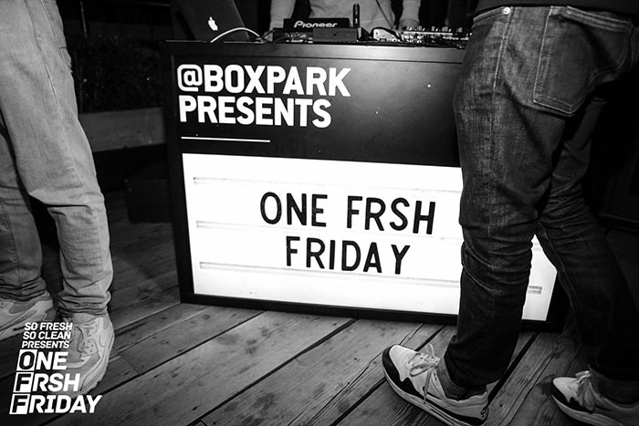 One Frsh Friday at Boxpark Shoreditch on Fri 8th December 2017 Flyer