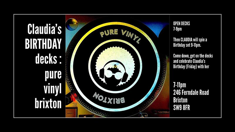 Open Decks at Pure Vinyl on Thu 11th July 2019 Flyer