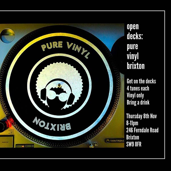 Open Decks at Pure Vinyl on Thu 13th December 2018 Flyer