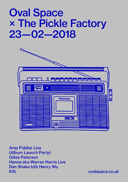 Amp Fiddler at Oval Space on Fri 23rd February 2018 Flyer