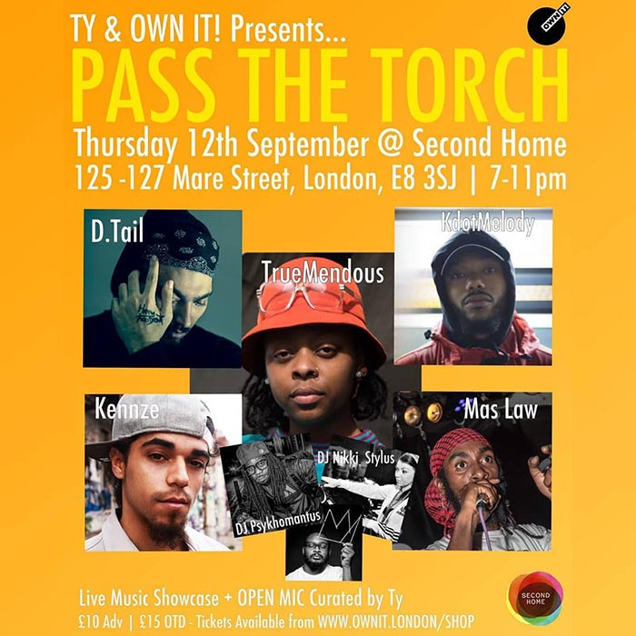 Pass The Torch at Second Home London Fields on Thu 12th September 2019 Flyer