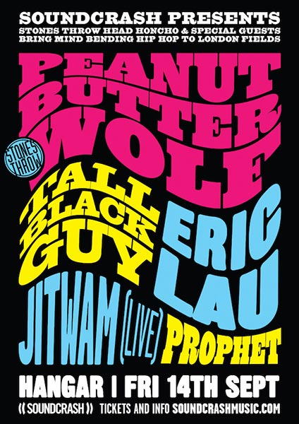 Peanut Butter Wolf at Hangar on Fri 14th September 2018 Flyer