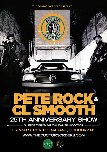 Pete Rock & CL Smooth at Trapeze on Friday 2nd September 2016 Flyer